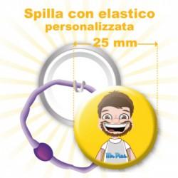 Spilla con elastico personalizzata Ø 25 mm