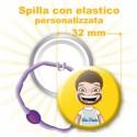 Spilla con elastico personalizzata Ø 32 mm
