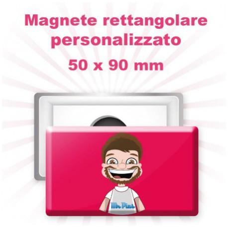 Magnete rettangolare personalizzato 50x90 mm