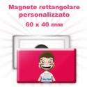 Magnete rettangolare personalizzato 40x60 mm