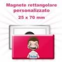 Magnete rettangolare personalizzato 25x70 mm